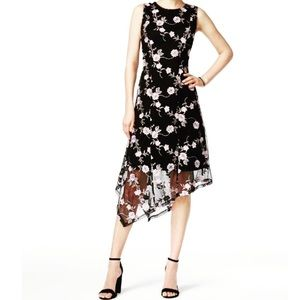 Macy's Embroidered chiffon floral tank dress